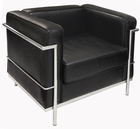 Modern Classic Leather Reception Seating - Chair
