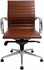 Modern Classic Leather Swivel Guest Chair on Glides - Black, White, Red and Brown