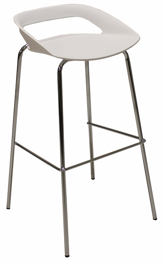 34 h modern white bar stool