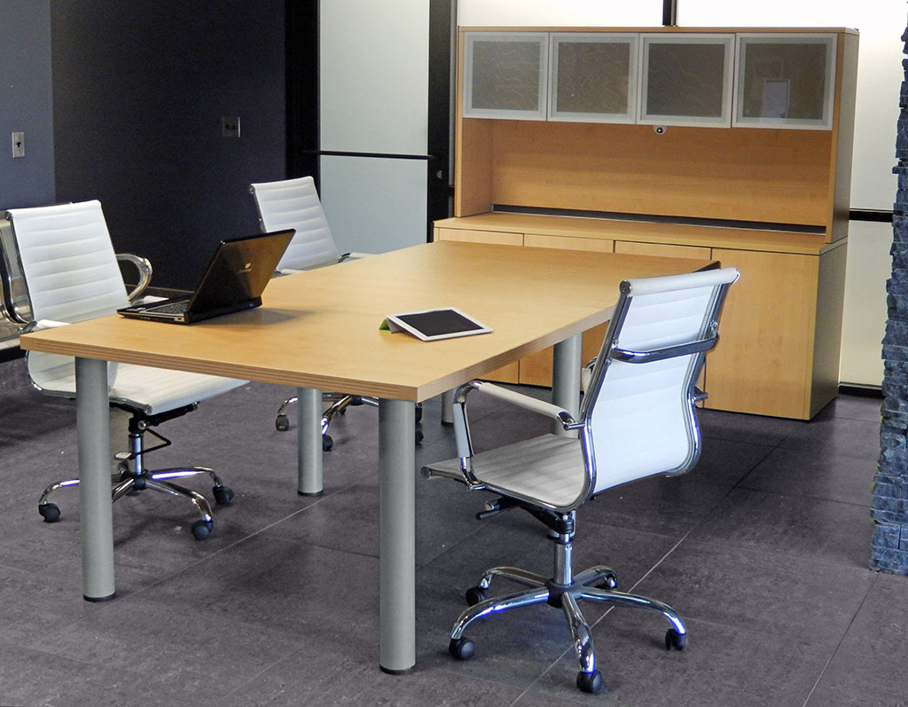 Modular Conference Tables In Mocha, Maple, White, Black, Or Charcoal  8u0027  Length   See Other Sizes