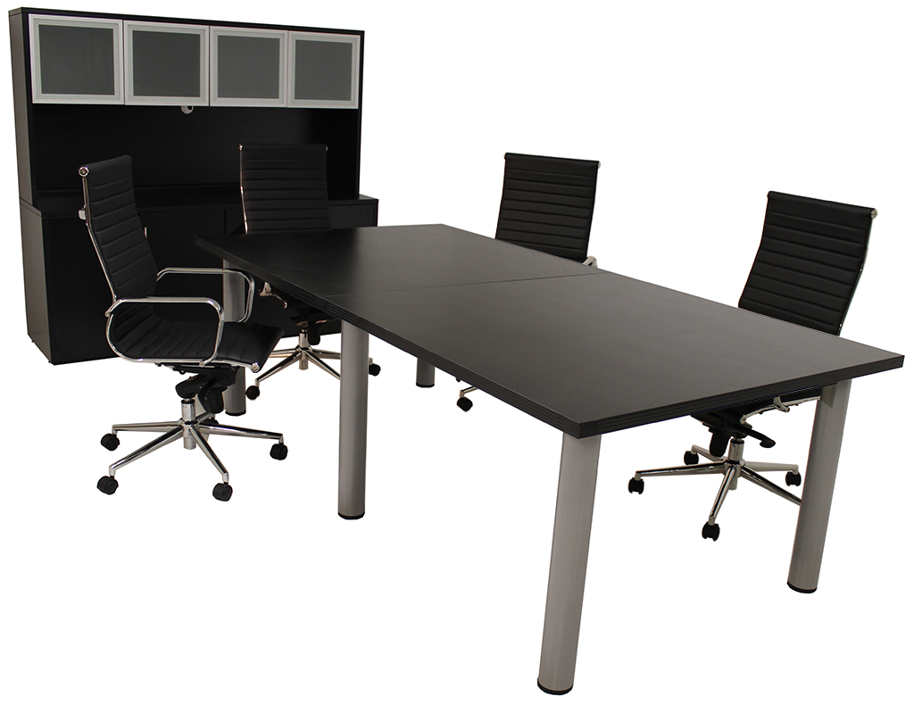 Modular Conference Tables In Mocha Maple White Black
