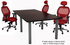 Modular Conference Tables in Mocha, Maple, White, Black, or Charcoal- 8' Length - See Other Sizes