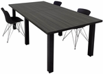Modular Conference Tables w/Black Legs & Mocha, Maple, White, Black or Charcoal Tops - 8' Length - See Other Sizes