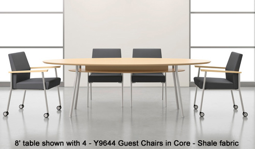 Mystic Elliptical Conference Table With Shelf See Other Sizes - Elliptical conference table