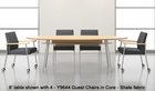 """Mystic 96"""" Elliptical Conference Table with Shelf - See Other Sizes"""