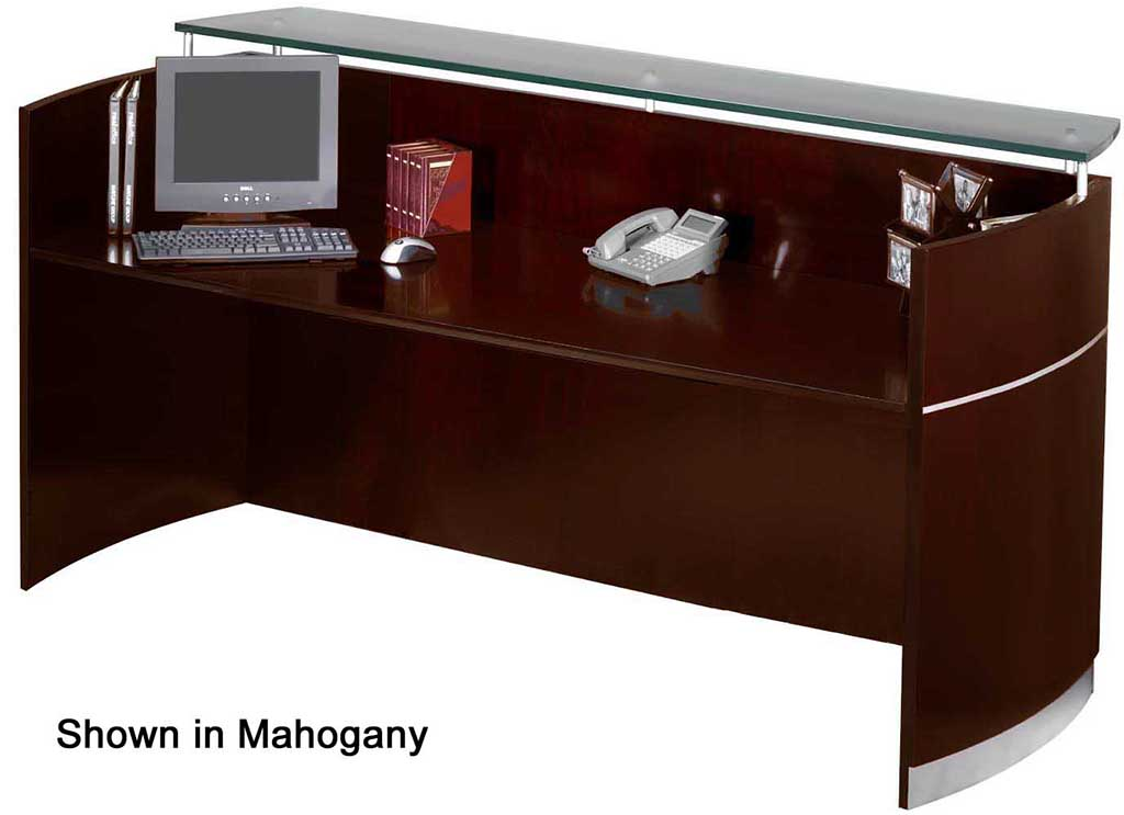 Napoli Reception Desk With Floating Gl Transaction Counter