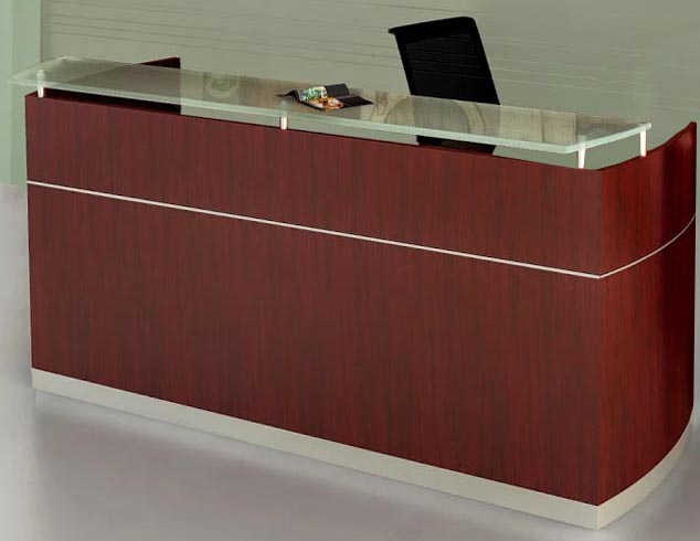Office furniture reception desk counter Beautiful Office Modern Office Napoli Reception Desk With Floating Glass Transaction Counter