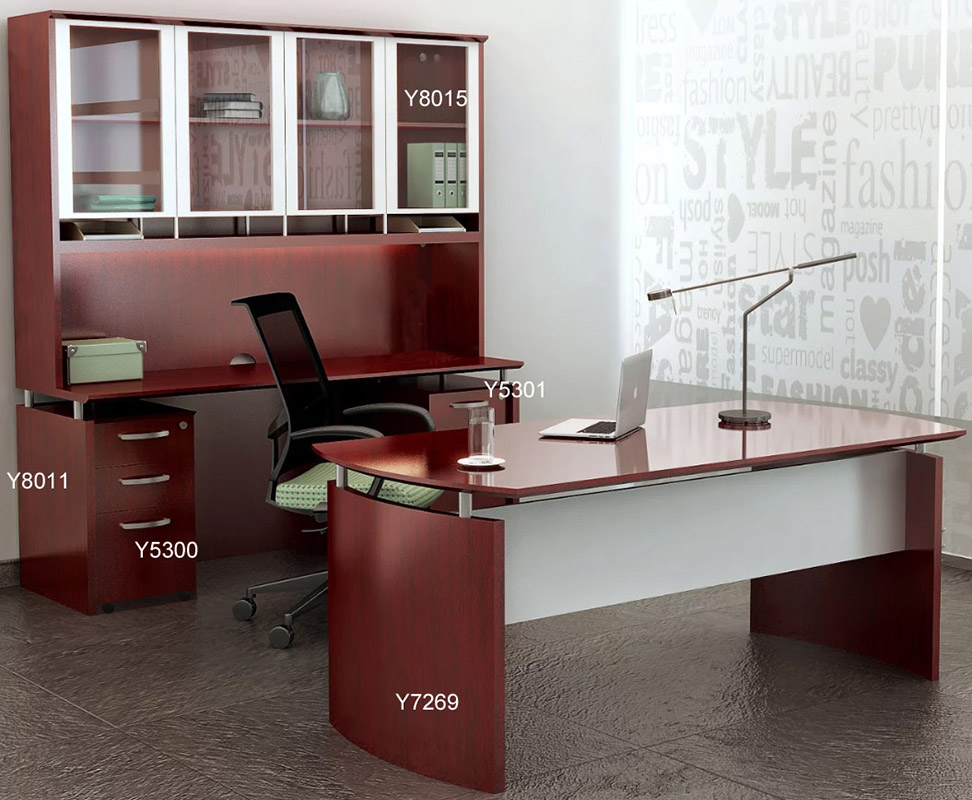 Office Furniture: Napoli Wood Veneer Office Furniture Collection