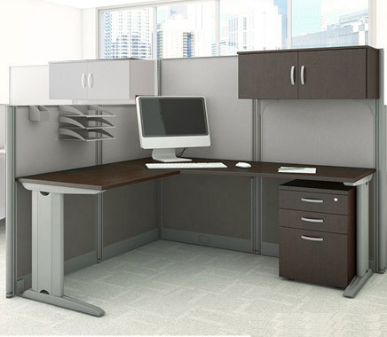 office in an hour cubicles l workstation w storage accessories