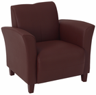 Office Star Breeze-Wine Eco Leather Club Chair