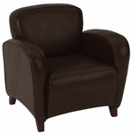 Office Star Embrace-Mocha Eco Leather Club Chair
