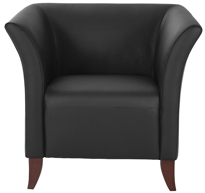 Perfect Office Star SL15 Series Black Faux Leather Club Chair
