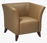 Office Star SL1871 Taupe Leather Club Chair