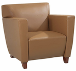 Office Star SL8871 Taupe Leather Club Chair