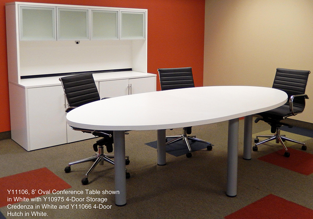 Oval Conference Table In Colors Length See Other Sizes - White oval conference table