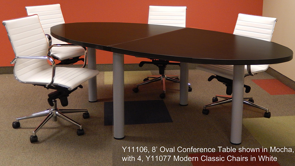 Oval Conference Table In 5 Colors 8 Length See Other Sizes