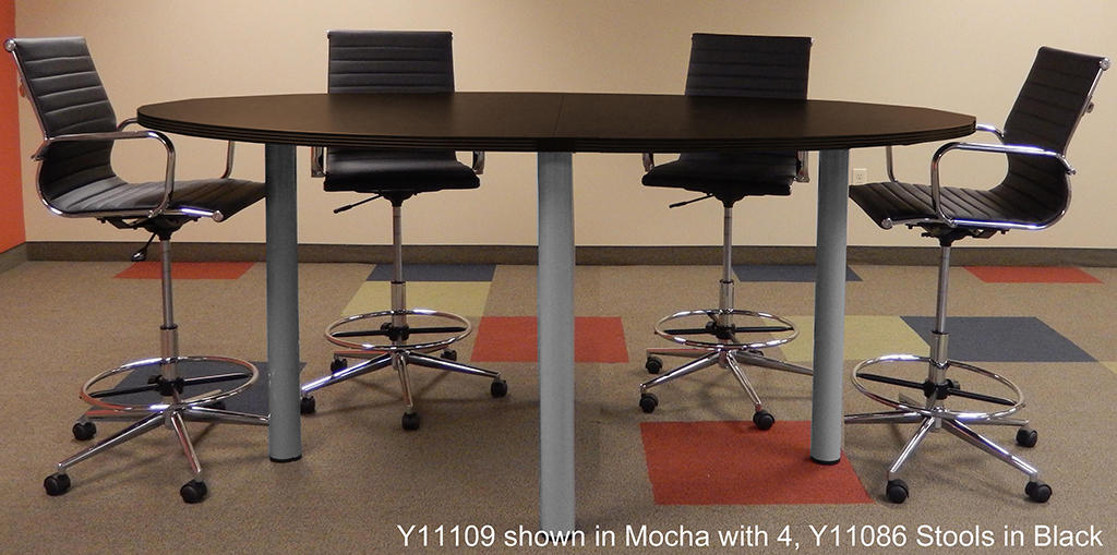 Oval Standing Height Conference Tables In Colors Length See - Conference table measurements