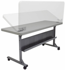 "Plastic Flip-N-Store Training Table - 60""W x  24""D Table"