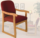Prairie Reception Seating Series - Single Sled Base Chair w/ Arms