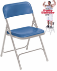 Premium Lightweight Plastic Folding Chair - 300 lb Capacity
