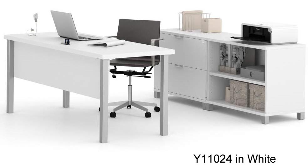 Pro linear metal leg modular office desk series executive desk set - Metal office desk ...