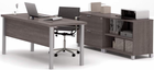 Pro Linear Metal Leg Modular Office Desk Series - Executive Desk Set
