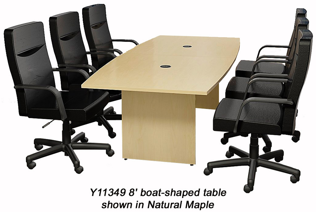 Quickship Boat Shaped Conference Tables 6 39 Table See