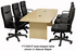 Quickship Boat Shaped Conference Tables  - 6' Table - See Other Sizes