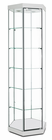 "77""H Hexagonal Tower Locking Display Case w/Casters"