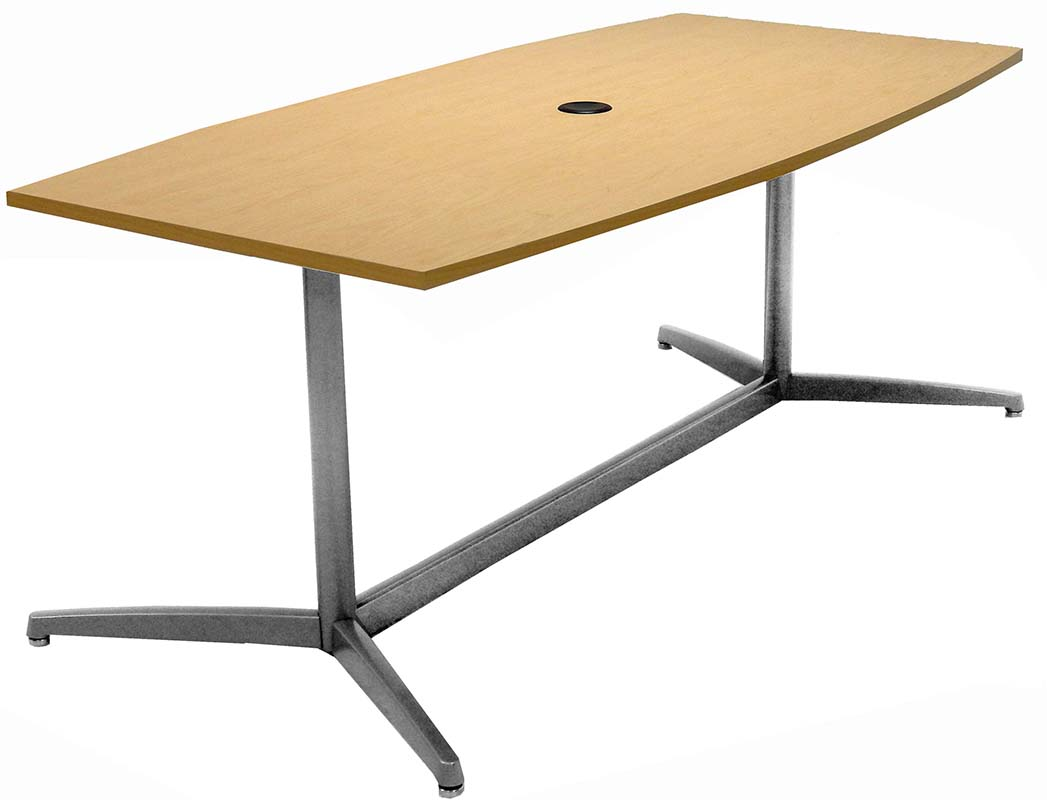 Quickship Modern Boat Shaped Conference Tables   6u0027 Table   See Other Sizes