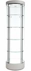 "76""H Round Tower Locking Display Case w/Casters"