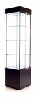 "78""H Square Tower Locking Display Case w/Casters"