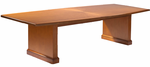 Radiant Cherry Veneer Conference Tables - 10' Boat-Shaped Table - See Other Sizes