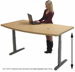 "71"" x 41"" Bow Front RaiseUp  Electric Lift Height Adjustable Desk - See Other Sizes"