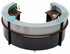 Semi-Circular Glass Top Reception Desk