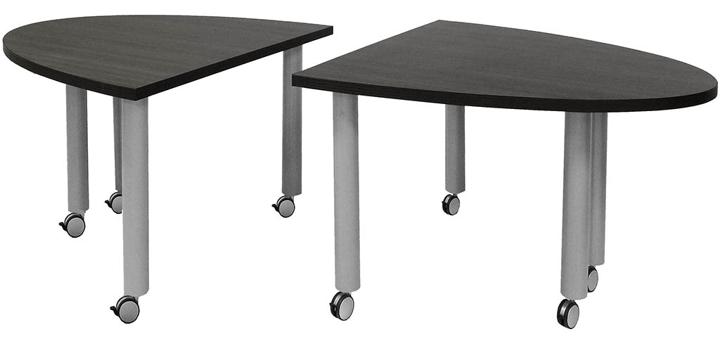 Superieur Set Of 2 Half Oval Mobile Modular Conference Tables