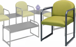Sheffield Reception Seating Series - Round Back Chair