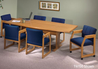 "33""/36"" x 60"" Solid Oak Boat Shaped Conference Tables-See Other Sizes"