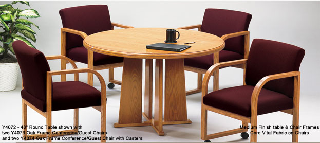 Solid Oak Round Conference Tables See Other Sizes - Round conference table for 4