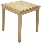 "Solid Wood Reception End Table & Coffee Table Series - 20"" Square End Table"