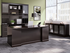 Sorrento Desk Series -  Bow Front Double Pedestal Desk