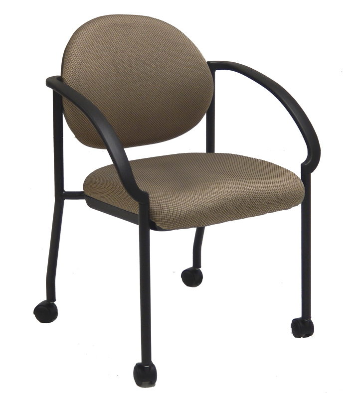 Stackable Chair W Flared Arms And Casters