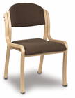 Stackable Solid Wood Frame Chair