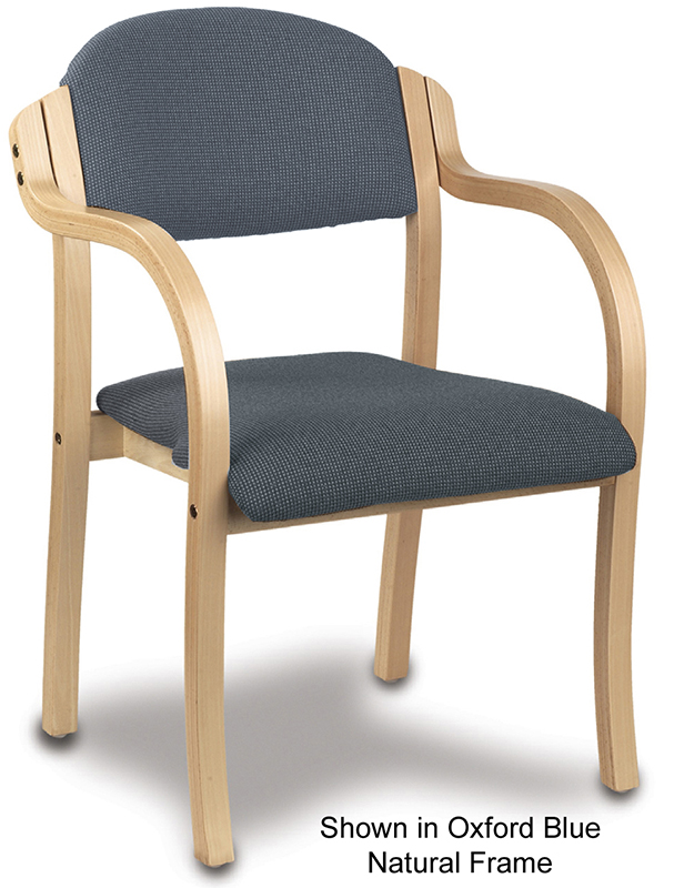 Stackable Solid Wood Frame Chair w/ Arms