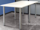 Standing Height Conference Tables in White, Mocha, Maple, Black, Driftwood, or Espresso - 8' Length- See Other Sizes