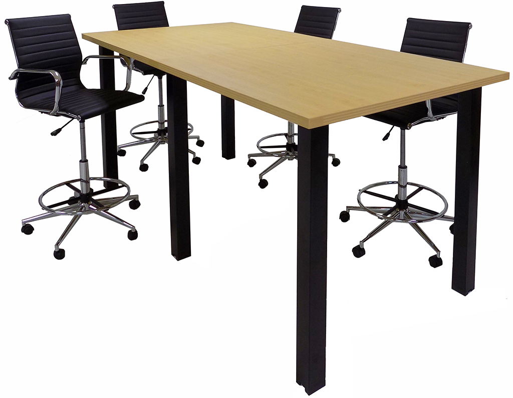 standing height conference tables wblack legs u0026 5 laminate choices 8u0027 length see other sizes