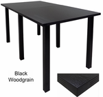 Standing Height Conference Tables w/Black Legs & 5 Laminate Choices - 8' Length- See Other Sizes