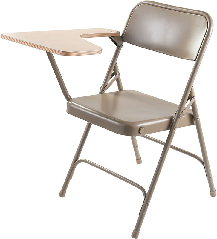 Steel Folding Chair With Tablet Arm 300 Lb Capacity