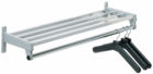 "Steel Wall-Mount Coat Racks in Five Sizes & Three Colors -- 24"" to 72"""