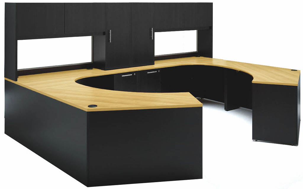 Symmetry Furniture custom two-person workstation